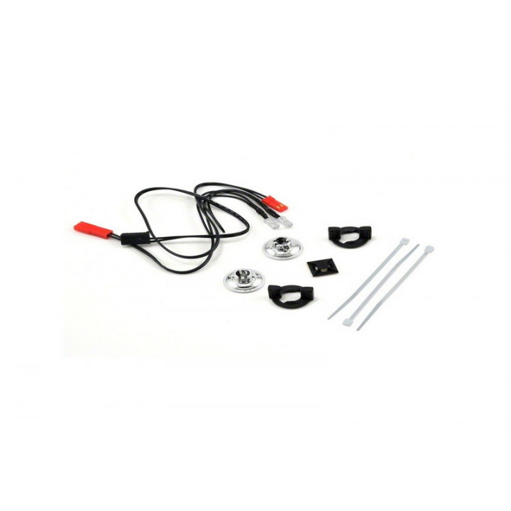 LED Lights/ harness (2 red lights)/LED housing (2) /housing retainer (2)/wire clip (1)/wire ties (3) - Артикул: TRA3686