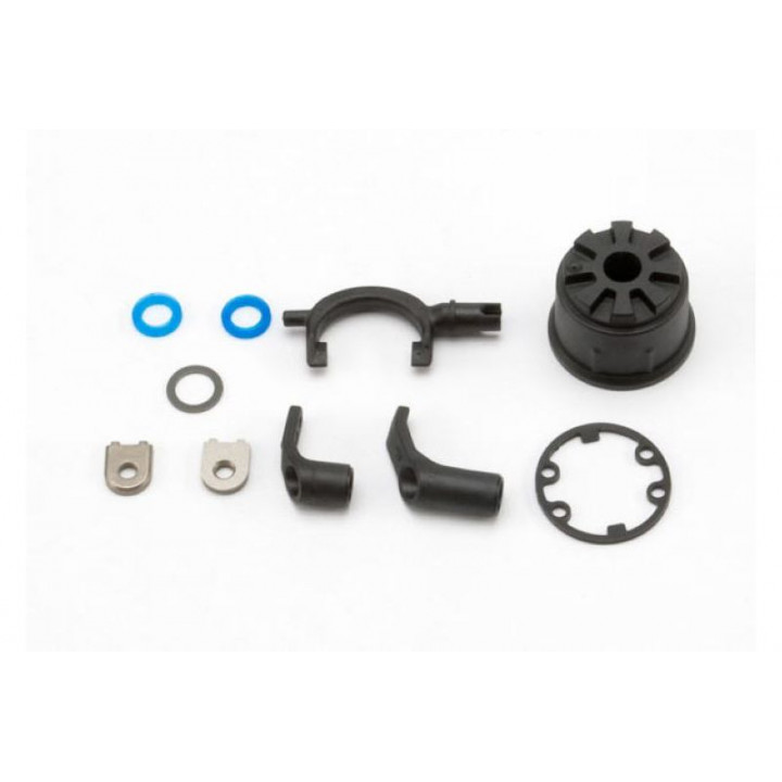 Carrier, differential (heavy duty)/ differential fork/ linkage arms (front &amp rear)/x-ring gasket - Артикул: TRA5681